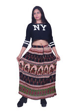 Ethnic Womens Casual Skirt Hippie Skirt Rayon Crepe Skirts Womens Long Skirts