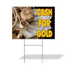 Weatherproof Yard Sign Cash For Gold Business D White Lawn Garden Buy Sell