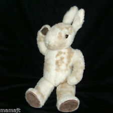 "Little Folk 18"" White Tan Bunny Rabbit Jointed Tiverton Devon England 1982"