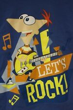 Phineas & Ferb Phineas Flynn Disney Store Exclusive Let's Rock Kids Size L 10/12