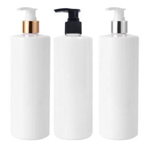 3PCS 500ml Soap Dispenser Bottle Pump Plastic Liquid Bathroom Shampoo Empty