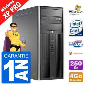 PC Tour HP 8000 Elite Intel E7200 RAM 4Go Disque Dur 250Go Windows XP Pro