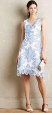 NEW Anthropologie Starflower Scalloped Dress by Eva Franco Size 0 Petite