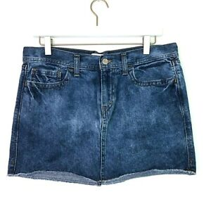 Levis denim mini skirt raw hem size 9