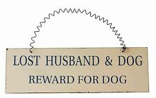 Wooden Dog Vintage/Retro Decorative Plaques & Signs