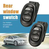 Pair Rear Window Power Switch LH+RH Black For Holden Commodore