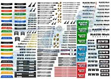 Rauh-Welt RWB Porsche Pack | Waterslide Decals for Hot Wheels 1/64 model cars