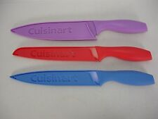 "NEW CUISINART ADVANTAGE CERAMIC COLOR COATED 8"" CHEF BREAD SLICING KNIFE SET 3"