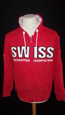rare veste d'équitation vintage GPA Swiss Team championnat d'Europe 2009 Rouge T