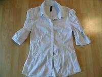MARC CAIN schöne Bluse mit Raffungen weiß Gr. N2? TOP  516