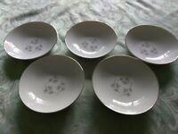 Narumi Fine China of Japan Pinecrest Dessert Fruit Bowl Set 5