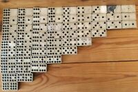 Vintage Pinned Dominoes in Original Wooden Box