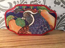 Sunshine Art Studio Partridge in a Pear Tree Collectible Scalloped Tin #383