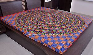 Mandala Tapestry Hippie Bohemian Indien Cotton Bedcover Queen Wall Hanging Throw