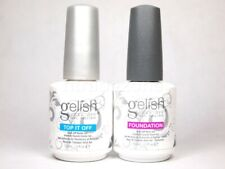 Gelish Top+Base Coat Gel Polish Foundation Base and Top it off NEW