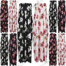 Robe maxi roses en polyester pour femme