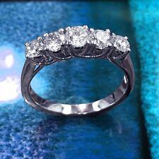 Wedding Band in 14k White Gold 1.00 Ct Braided Prong Set Round Diamond