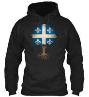 Tree Of Life With Quebec Flag Gildan Hoodie Sweatshirt