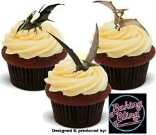 Novelty Dinosaur Pterodactyl Mix Edible Stand Up Cake Toppers VANILLA Dinosaurs