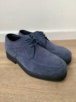 Hush Puppies Blue Suede Mens Shoes Casual UK Size 6 EU38 VGC