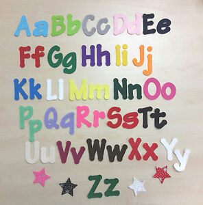 """IRON ON Felt Letters & Numbers 2"""" (5cm) tall ,Upper & Lowercase, Lollipop Font,"""