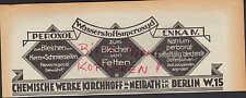 BERLIN, Werbung 1933, Chemische Werke Kirchhoff & Neirath GmbH PEROXOL ENKA IV