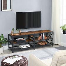 VASAGLE TV-Schrank Fernsehtisch Fernsehschrank mit Ablagen TV-Regal LTV094B01