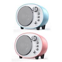 Q7 Retro Mini Bluetooth Speaker Rechargeable Portable Sound Loudspeaker Box TN2F