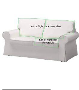 IKEA EKTORP 2 Seat Loveseat Slipcover Cover VITTARYD WHITE 803.217.52 choose