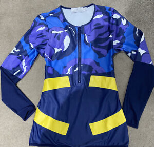 Adidas Stella McCartney long sleeve Running Top camouflage Sports Fitness Wear