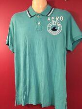 AEROPOSTALE Men's Turqouise California Waverider Polo Shirt - Size Large - NWT
