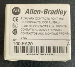 100-FA20 Allen Bradley 2 NO Aux Contacts