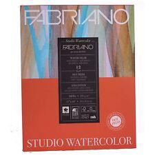 """Fabriano Hot Press 11""""x14"""" Watercolour Studio Watercolour Paper pad 12 sheets"""