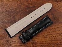 Breitling Strap Nuovo Cinturino Navitimer 22mm Black Nero Genuine Crocodile Cool