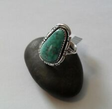 ~ Sterling Silver Kingman Teal Turquoise Ring Size 8.5 ~