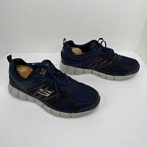 Skechers Men's 10.5 shoes Relaxed Fit dual lite memory foam blue  Sneakers