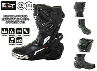 NEW S13 CE APPROVED MOTORBIKE MOTORCYCLE RACING BOOTS WATERPROOF LEATHER SHOES