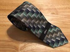 Alara NWT Navy & Brushed Metal Silk Tie