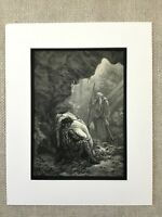 1870 Angel of Death Young Girl Atala Chateaubriand Gustave Dore Antique Print
