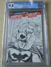 Justice League vs Suicide Squad #1 Witter Sketch Variant CGC 9.8 - 2016-DC