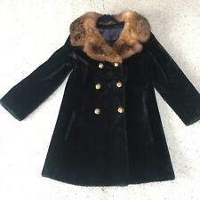 Ladies Fur Coat Black Vintage Class Fureal Crown Hand Tailored
