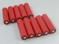 10x Sanyo Batteria UR18650W2 / Li-MN / Li-Ion / 3.6V / 1.5Ah