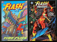 Lot of 2 The Flash TPB Iron Heights Rare One Shot + Time Fllies 1 Shot Both NM+