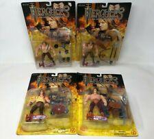 Lot of 4 ToyBiz 1995 Hercules I, II, III Action Figures Archery Iron Spiked -NIB