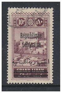 Lebanon - 1928, 10p Plum further Optd stamp - Used - SG 134