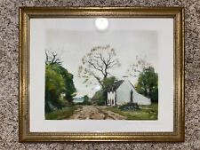 Lithograph Print Maurice Menardeau French Artist French House Scenery