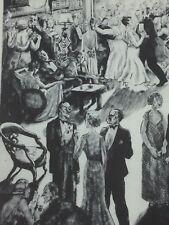PEGGY BACON The Social Graces Vintage Print Lithograph 25568