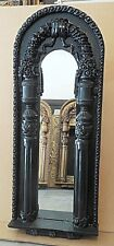 "Large Hard Resin ""21x51"" Ornate Arched Framed Wall Mirror"
