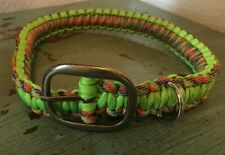 "Paracord Dog Collar Green Multicolor 22"""
