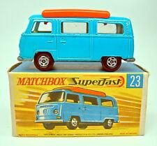 Matchbox SF nº 23a VW Camper azul naranja implantación top en Box